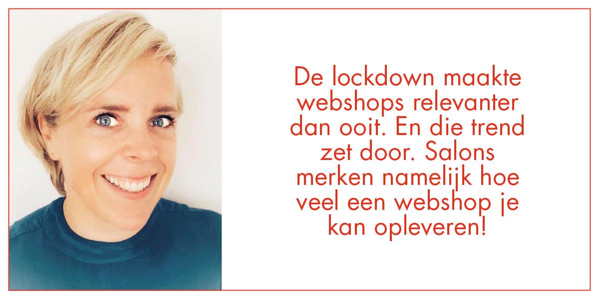 Loyaliseer je klanten tussen 2 behandelingen door met jouw eigen webshop