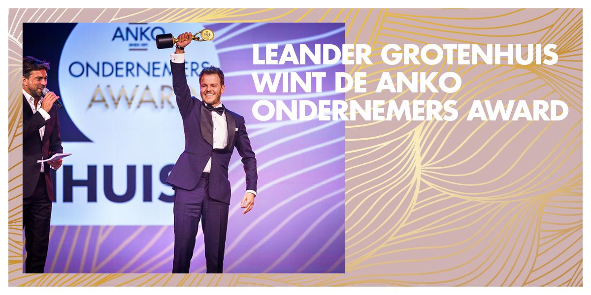 Leander Grotenhuis wint de ANKO Ondernemers Award